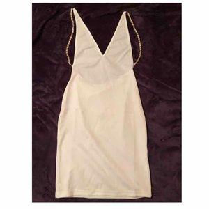 Dresses & Skirts - WHITE HALTER SIDE BOOB DRESS